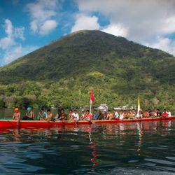 Traditional Kora Kora racess in the Banda islands