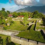 Fort Nassau with Cilu Bintang Estate in the background
